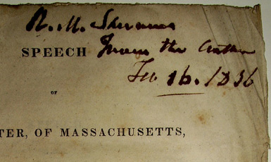 Image for Speech of Mr. Webster of Massachusetts on the Subject of the Three Millions Appropriation and the Loss of the Approprations Bill for Fortifications  of the Last Session. Delivered in the Senate of the United States January 14, 1836