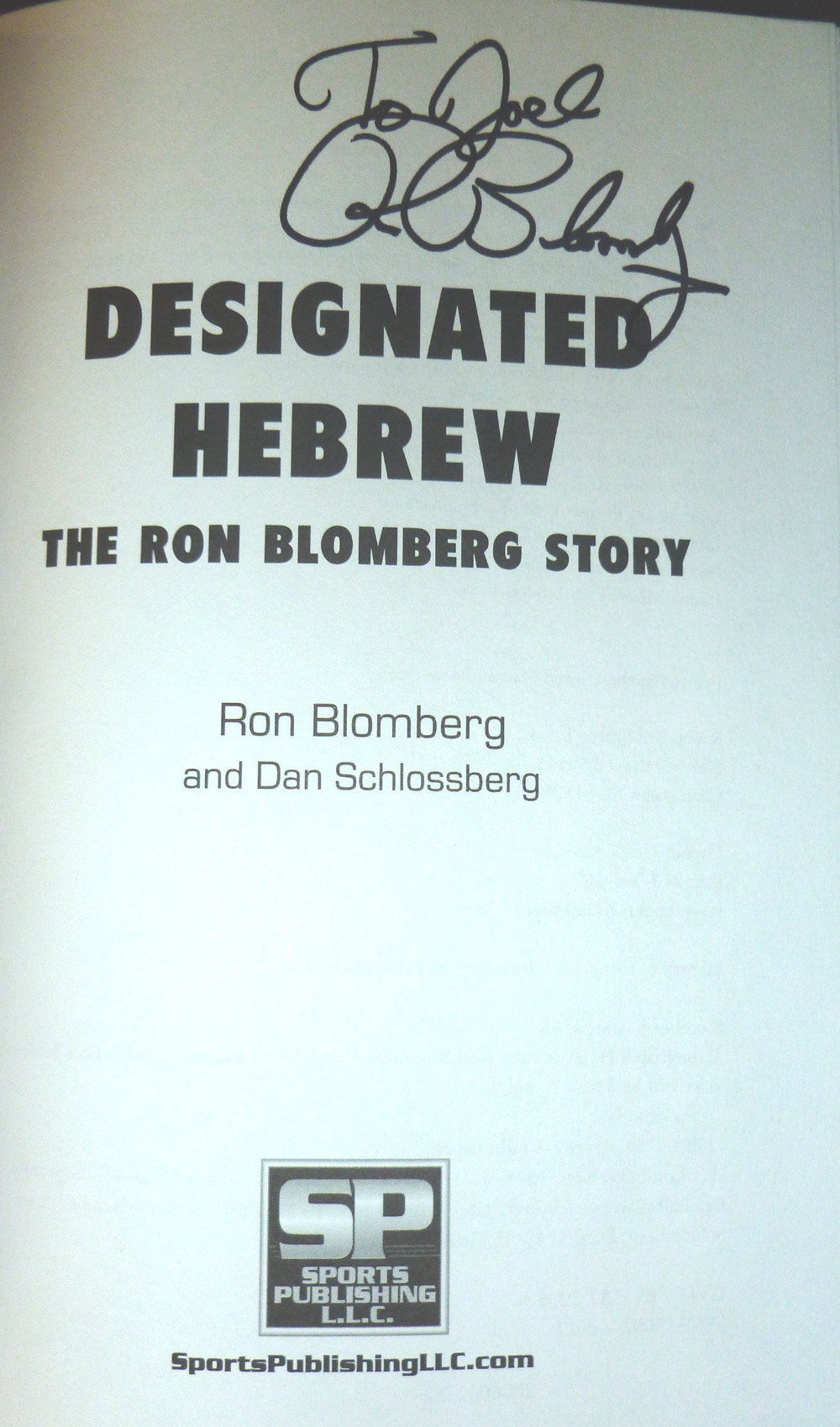 Image for Designated Hebrew: The Ron Blomberg Story