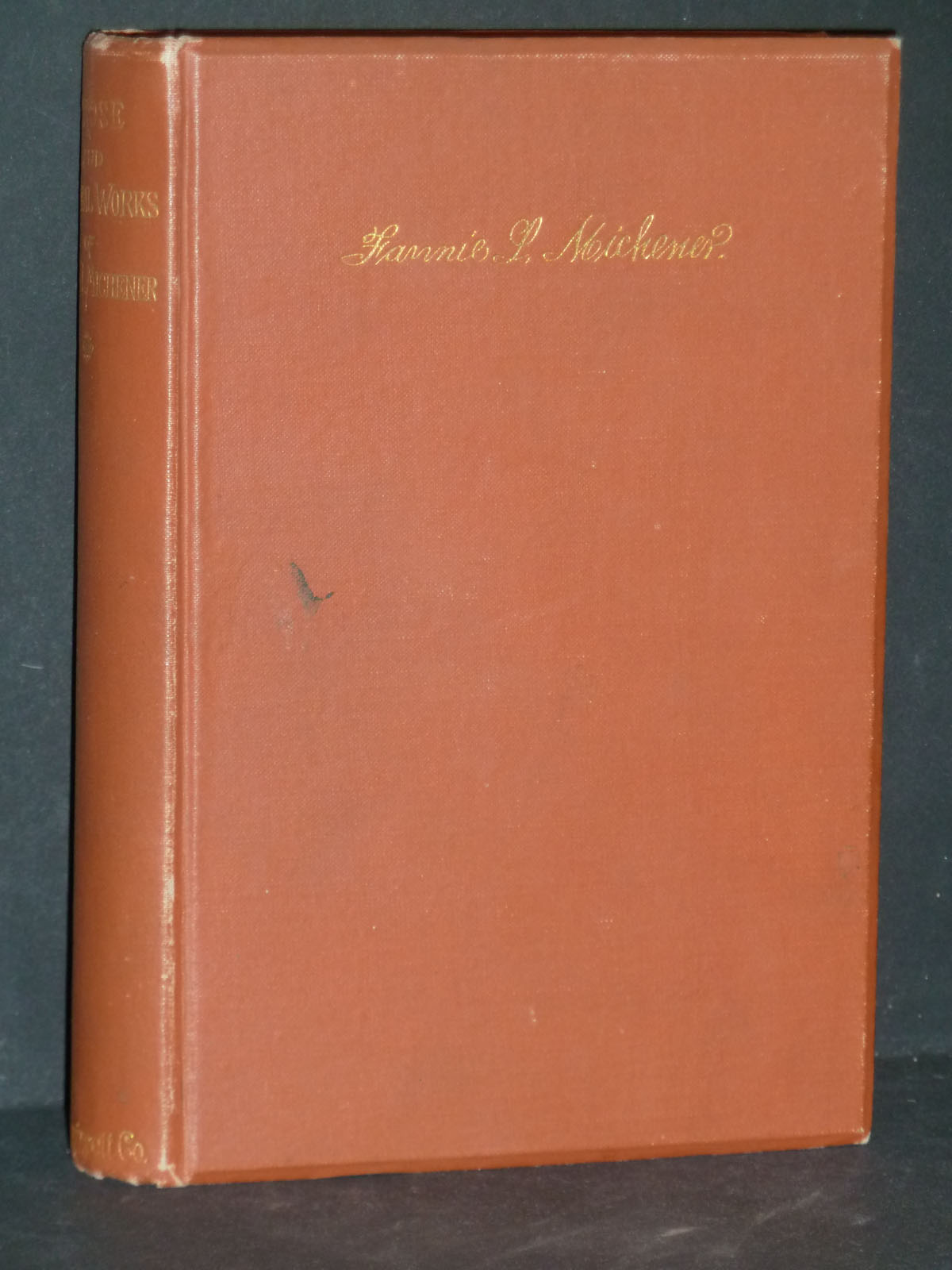 Image for The Prose and Poetical Works of Fannie Michener