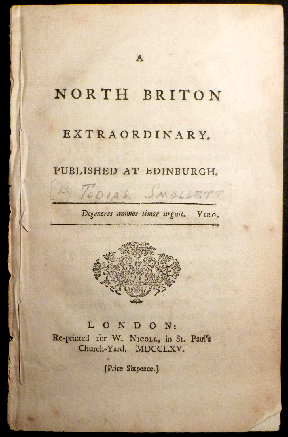 Image for A North Briton Extraordinary / Published at Edinburgh