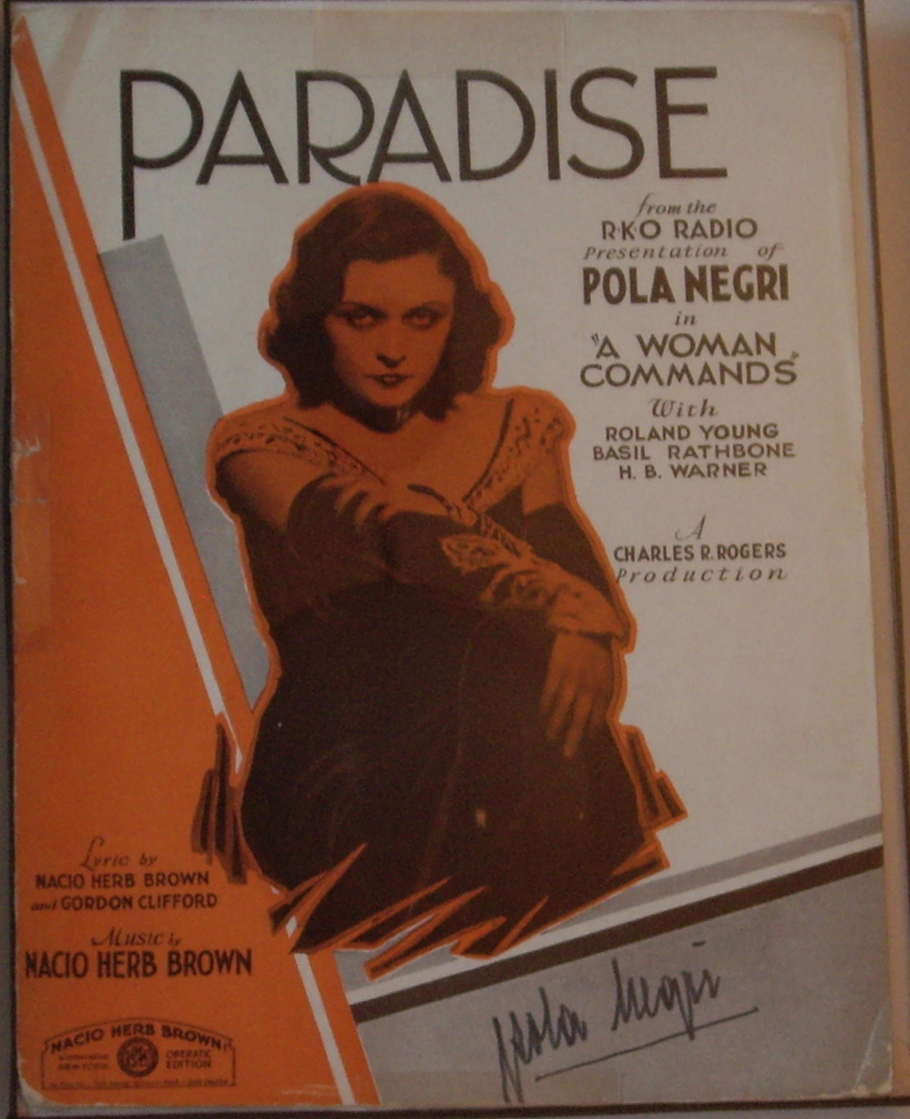 "Image for 'Paradise' from the Movie ""A Woman Commands"""