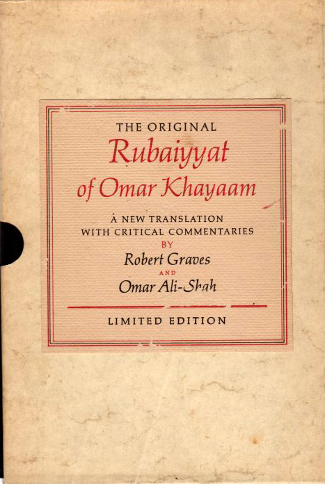 Image for The Original Rubaiyyat of Omar Khayaam A New Translation with Critical commentaries