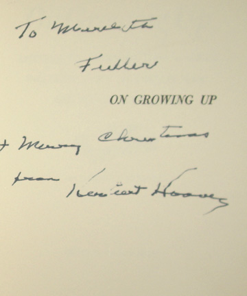 Image for On Growing Up, His Letters from and to American Children