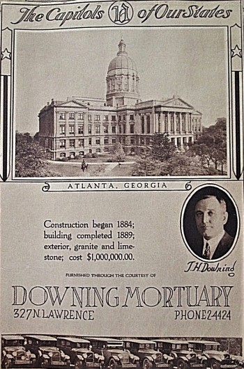 Image for Art Deco- 1920s  Mortuary Ads of the Capitols of Our States