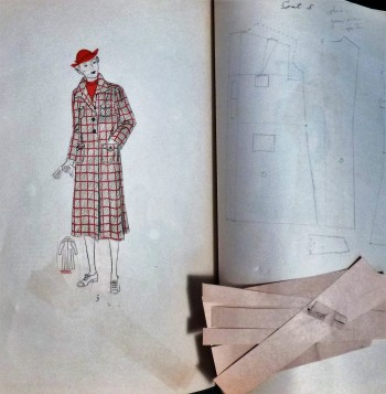 Image for 1936 Fashion Scrapbook - Design Instruction - Pattern Making