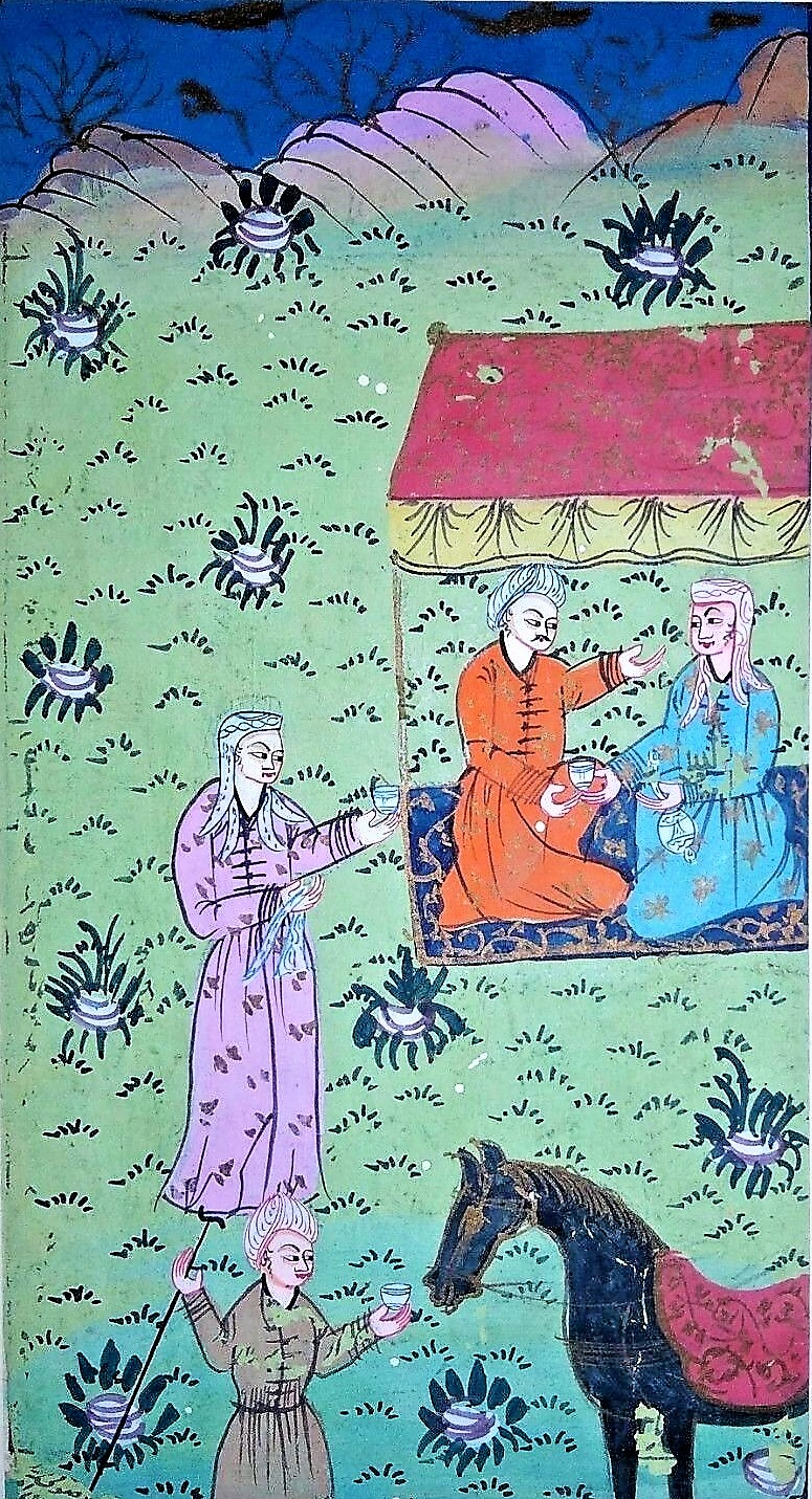 Image for Early Ottoman Persian Watercolor Picnic Them