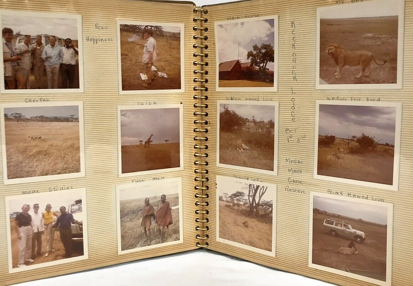 Image for Vintage 1970   African Safari Photo Journal