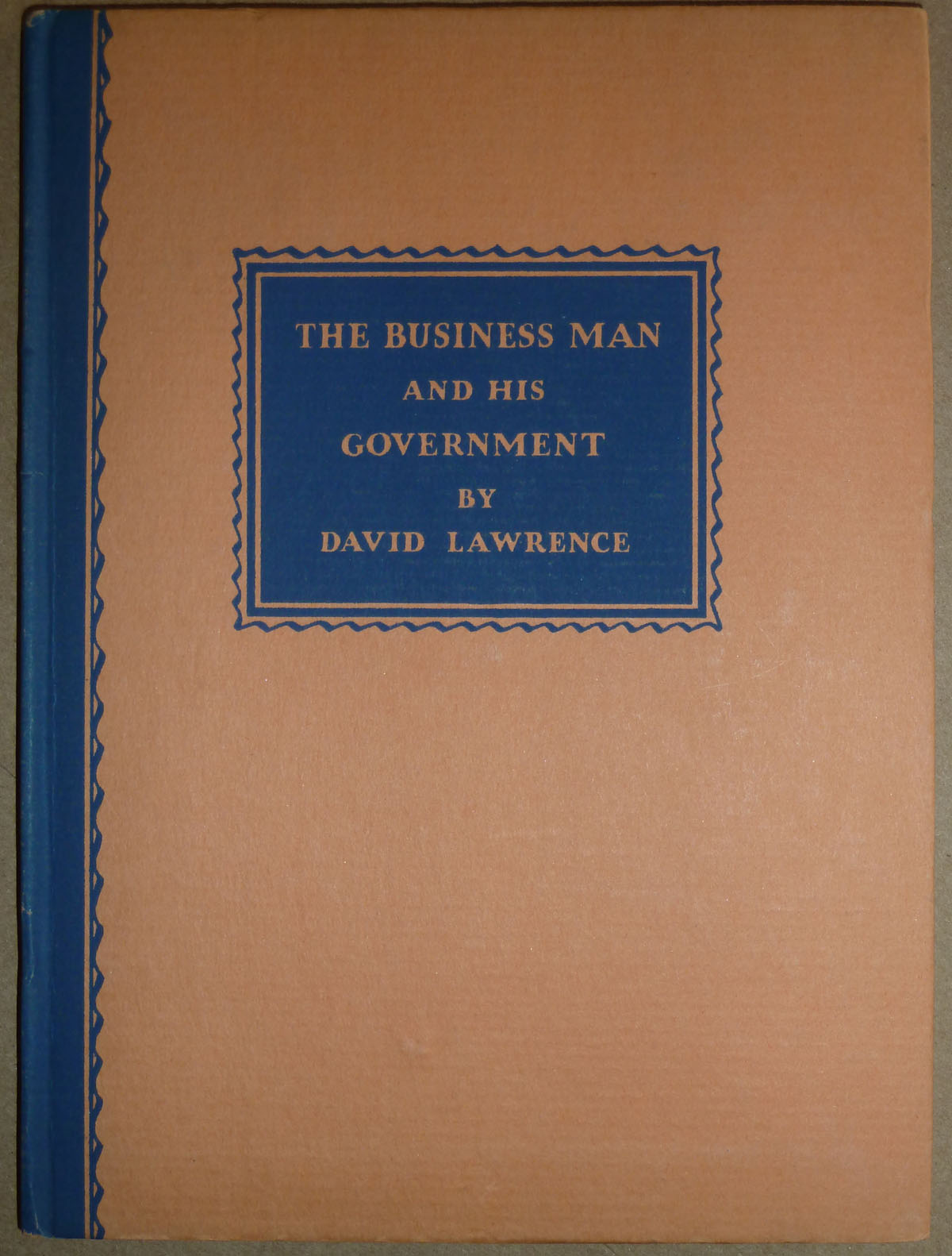Image for The Business Man and his Government