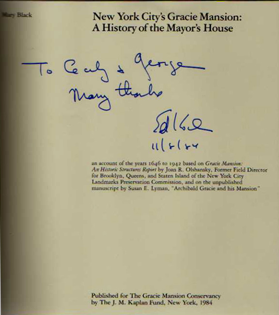 Image for New York City's Gracie Mansion: A History of the Mayor's House