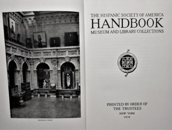 Image for Hispanic Society Of America Handbook of Museum And Library Collections