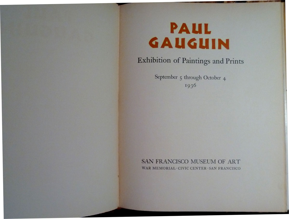 Image for Paul Gauguin:  Exhibition of Paintings and Prints