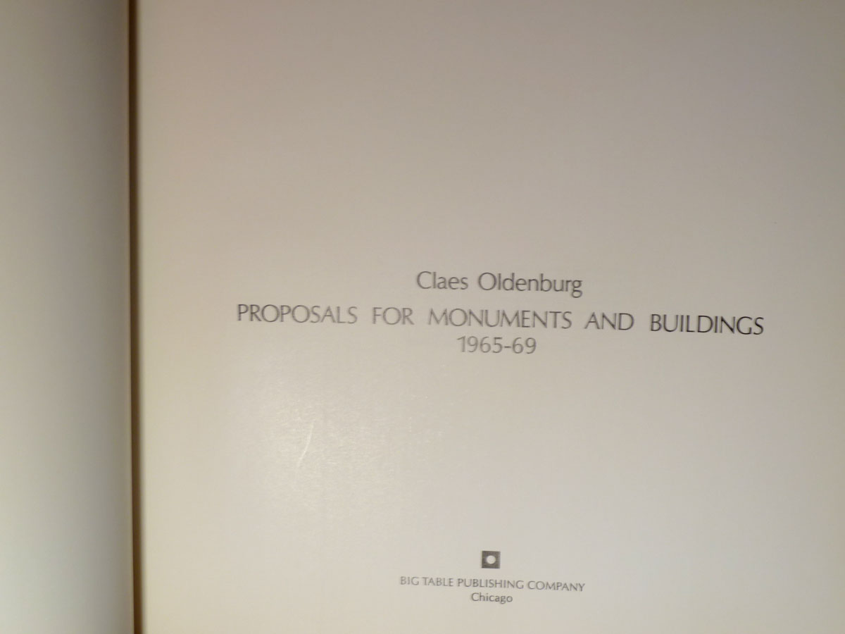 Image for Proposals for Monuments And Buildings  1965 - 1969