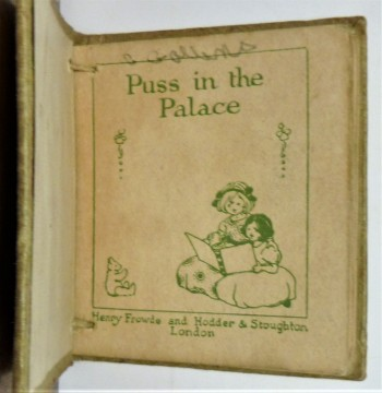 Image for Puss in the Palace  (Miniature)