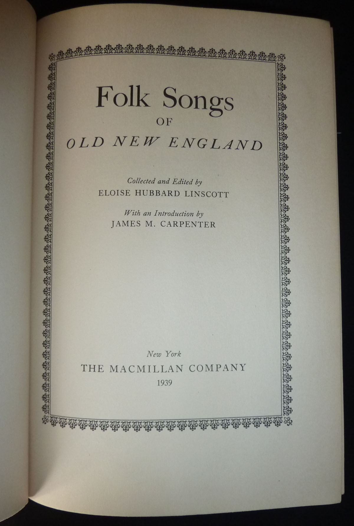 Image for Folk Songs of Old New England