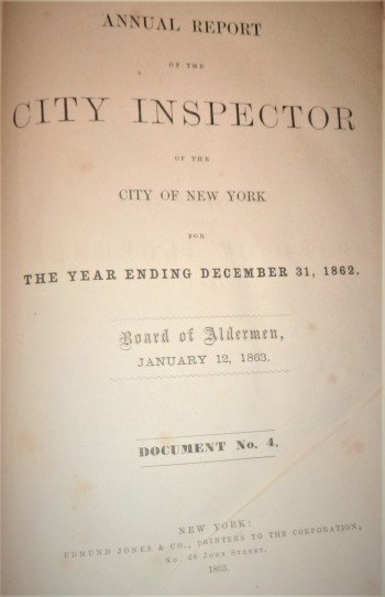 Image for Annual Report of the City Inspector of the City of New York
