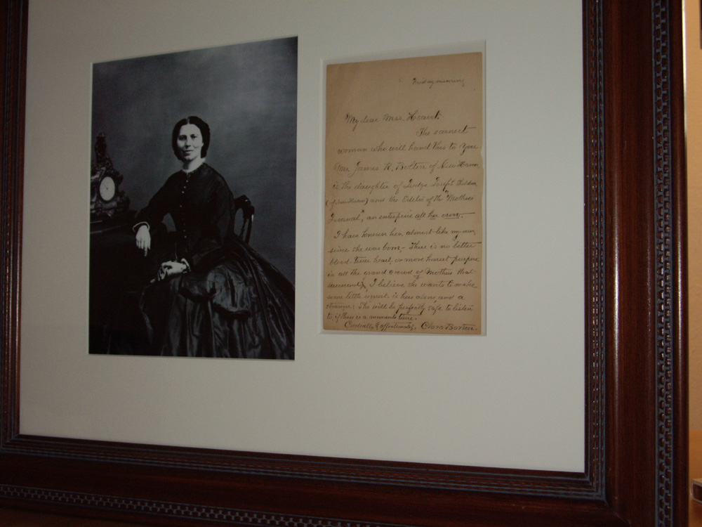 Image for Framed Autographed Letter and Photo Portrait of Clara Barton