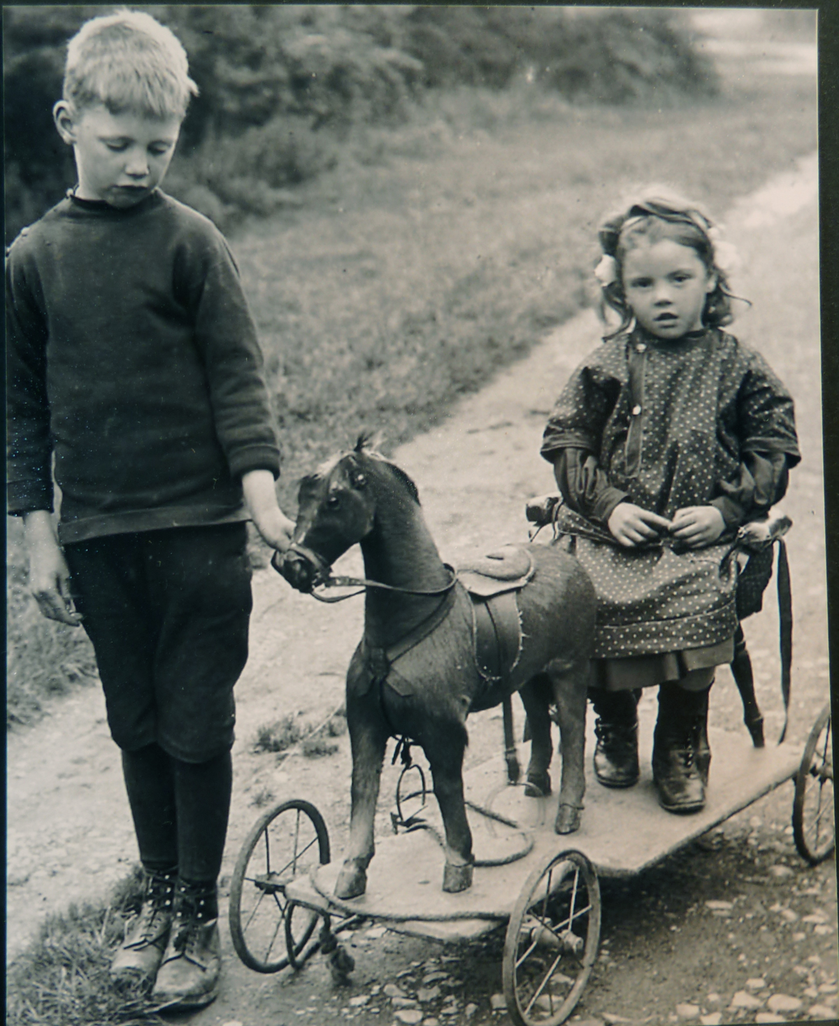 Image for Boy and Girl and a Toy Cart