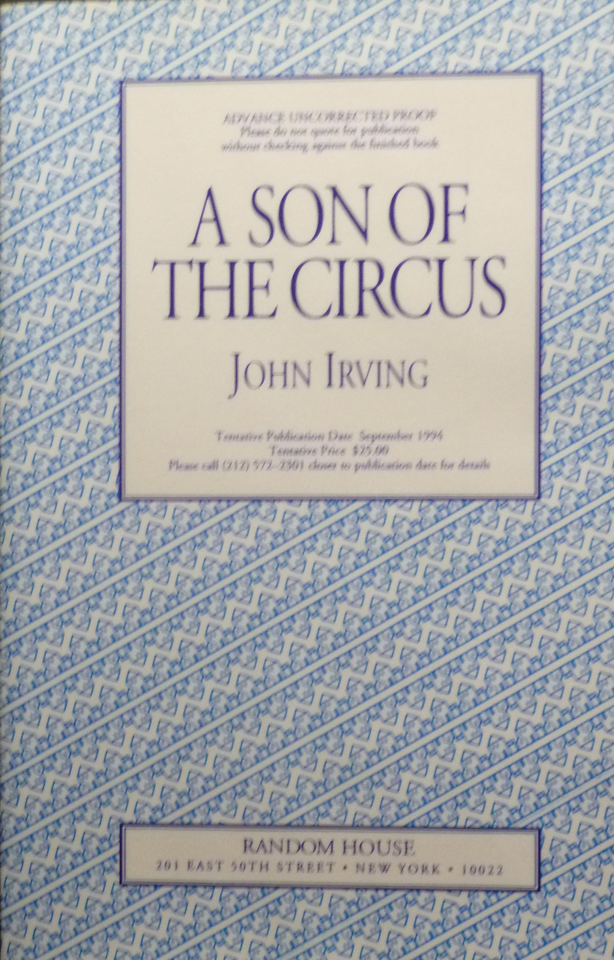 Image for A Son of the Circus