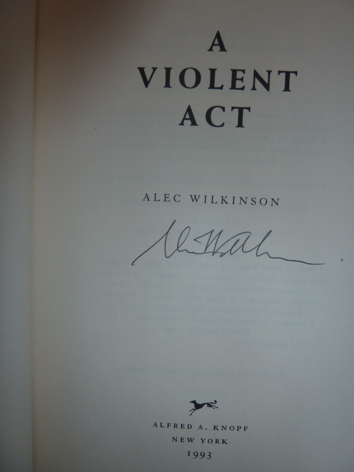 Image for A Violent Act