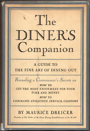 Image for The Diner's Companion- Signed