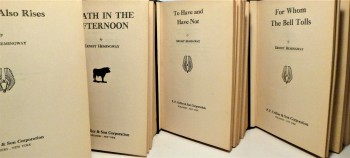 Image for 4 Volumes- Death in the Afternoon/ To Have and Have Not/ For Whom the Bell Tolls/ The Sun Also Rises