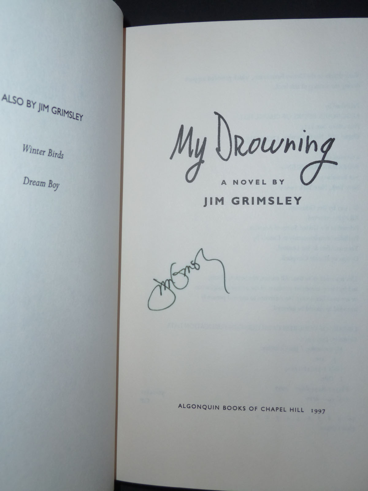 jim grimsley my drowning essay 2 pm, string box books, author of my favorite war author of the poetry of healing to have an event or reading listed, send information three weeks before the event to sarah williams.