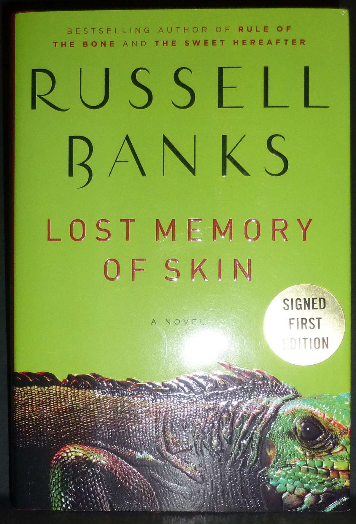 Image for Russell Banks - Signed 1st edition - Lost Memory of Skin